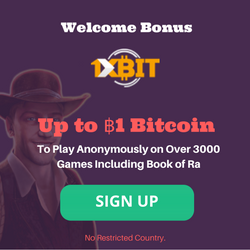 1xbit casino exclusive welcome bonus offer for Novomatic slots