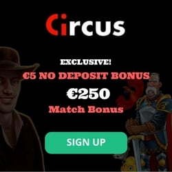 Exclusive Circus.be Online Casino Welcome Bonus