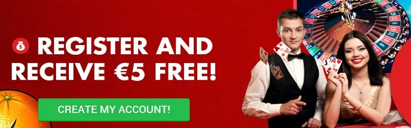 5 euro no deposit bonus by circus.be casino