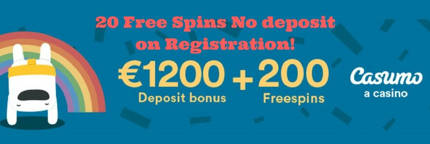 20 Free Spins No deposit Bonus on Registration casumo